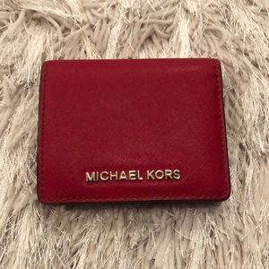 Red Michael Kors Mini Wallet